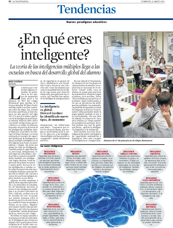 Granés Batxillerat La Vanguardia 25-01-13 Inteligencies Multiples (I)