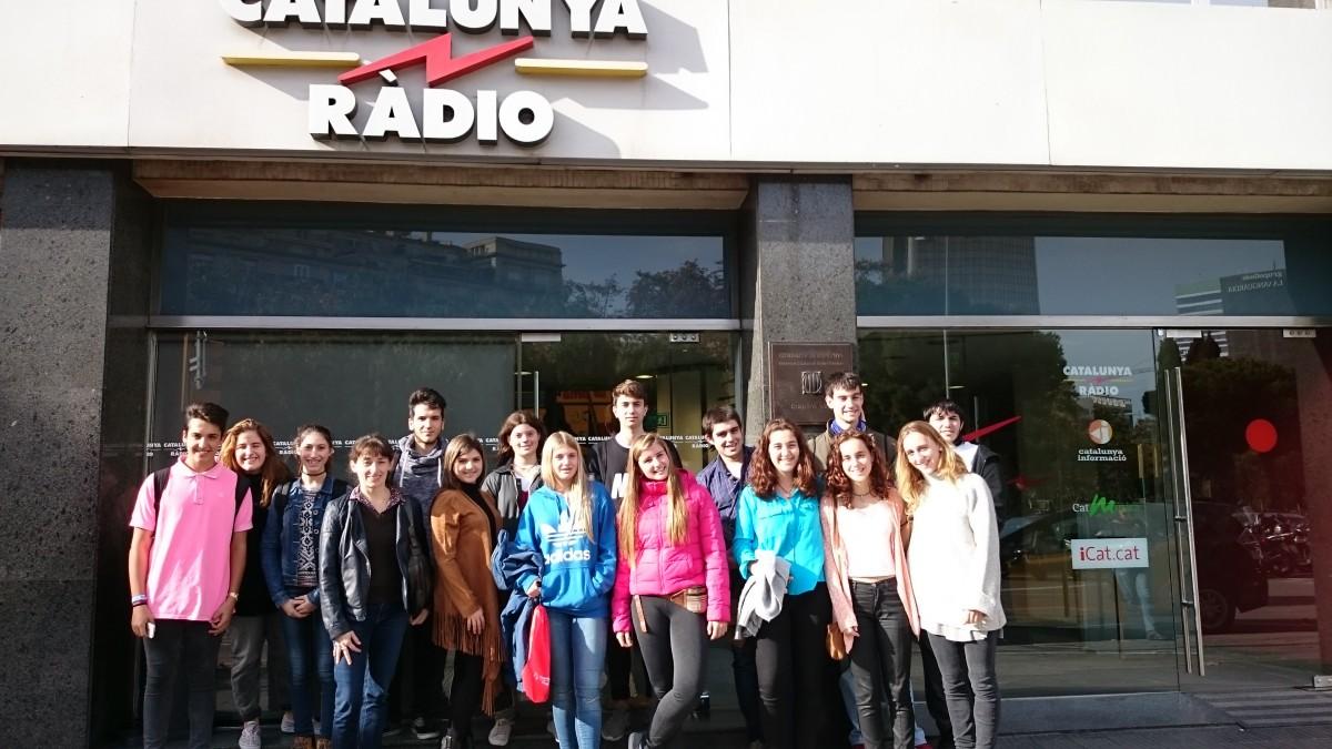 Visita a TV3 i Catalunya Ràdio pels alumnes de Granés Batxillerat