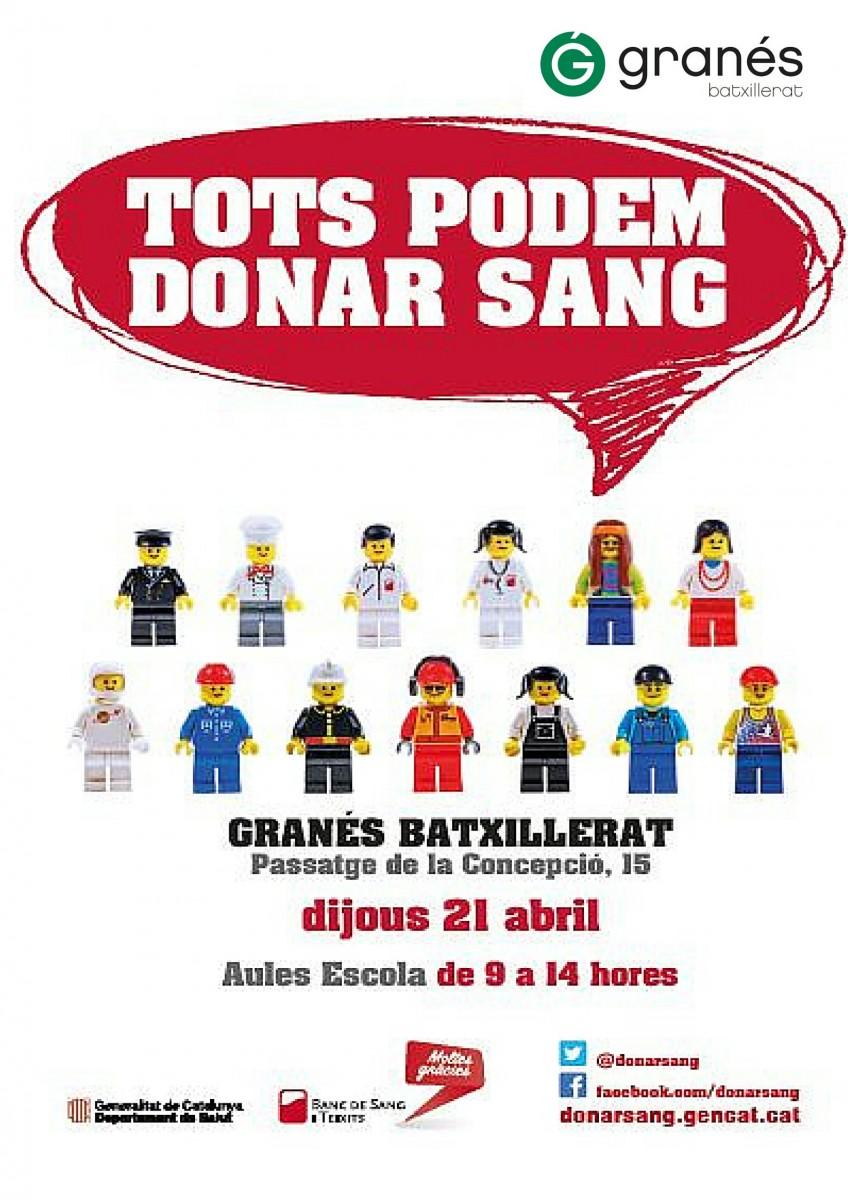 Cartell Donació Sang-Granés Batxillerat.