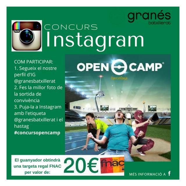 Concurs Instagram Open Camp
