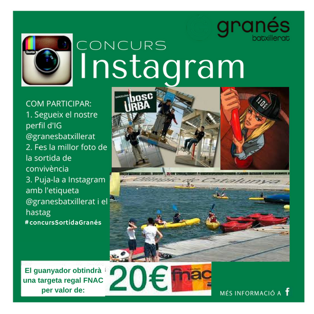 Concurs Instagram sortida de convivència 2017