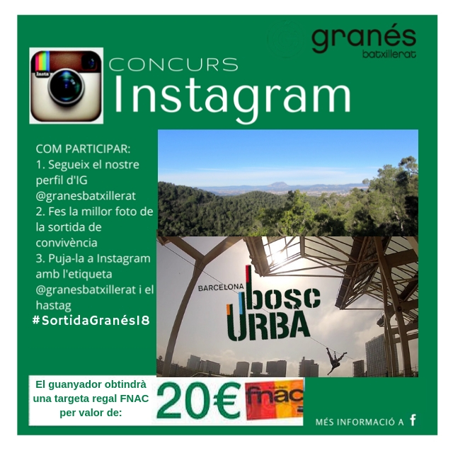 Participa al Concurs Instagram sortida convivència